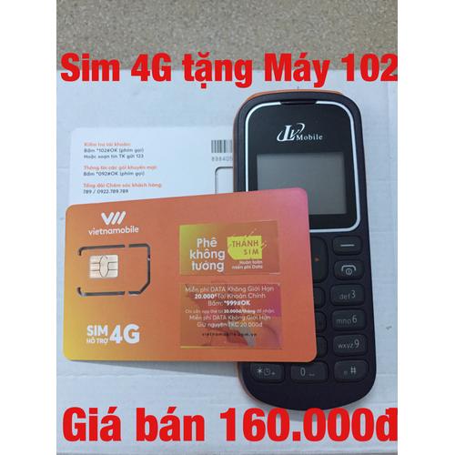 Sim số 4G tặng Máy điện thoại Lv102