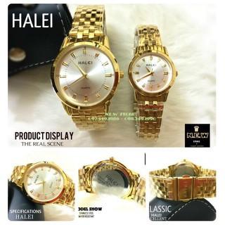 Đồng hồ cặp đôi dây thép Halei Gold platium sang trọng, huyền bí - HL15 7