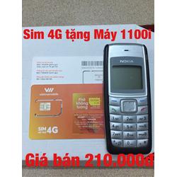 Sim số 4G tặng Máy điện thoại 1100i