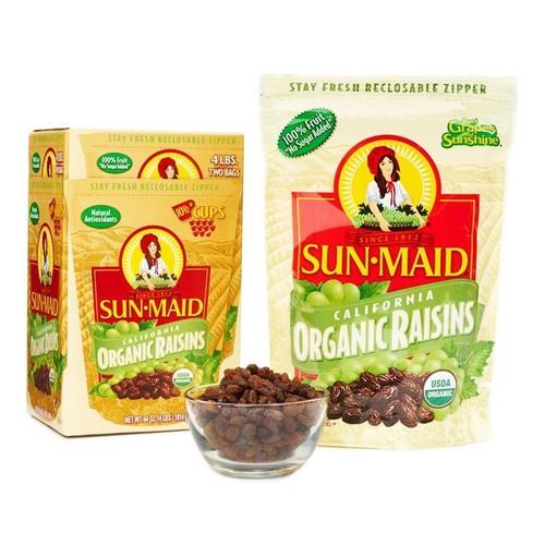 Nho Khô Sunmaid Organic Mỹ Mùa Mới 2019| Túi 907g