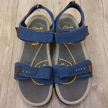 8be7c28fd504 Factory Outlet  Giày sandal Clarks - TBD quai dán đế sọc vàng Xanh ...