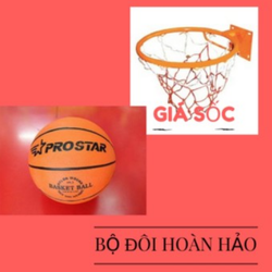 Combo: rổ đường kính 47cm và bóng rổ số 7