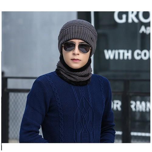 mũ len kèm khăn nam-mũ len kèm khăn nam
