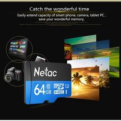 Thẻ Nhớ Netac 64gb MicroSD Class 10 dành cho Camera
