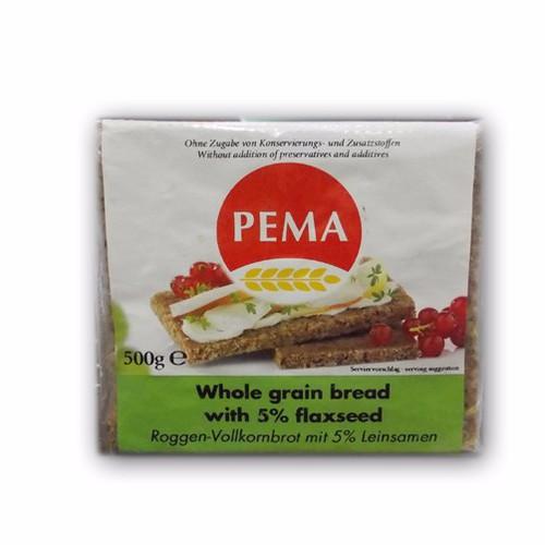 Bánh mỳ nguyên cám với hạt lanh hiệu PEMA 500g