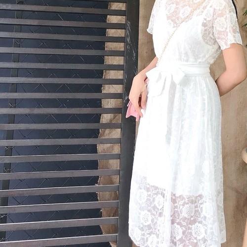 Đầm Ren Trắng Siêu Xinh