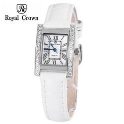 Đồng hồ nữ chính hãng Royal Crown 6306 dây da trắng
