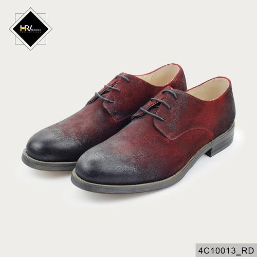 Giày mọi nam chất bụi đế phíp cao da dê màu đỏ APCN 4C0013_RD
