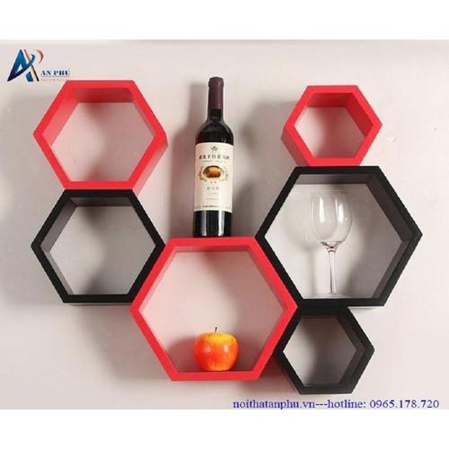 Kệ gỗ trang trí - kệ treo tường 6 khung lục giác đỏ đen - 5446595 , 11824358 , 15_11824358 , 900000 , Ke-go-trang-tri-ke-treo-tuong-6-khung-luc-giac-do-den-15_11824358 , sendo.vn , Kệ gỗ trang trí - kệ treo tường 6 khung lục giác đỏ đen