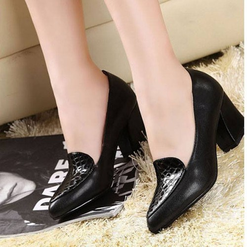 Giày Gót Vuông 6cm  Cao Cấp