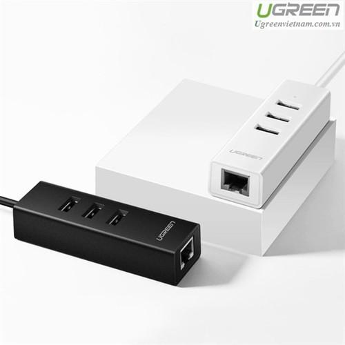 Bộ Chia Ra 3 Cổng USB 2.0 Tích Hợp  Dài 20cm Ugreen 30298.