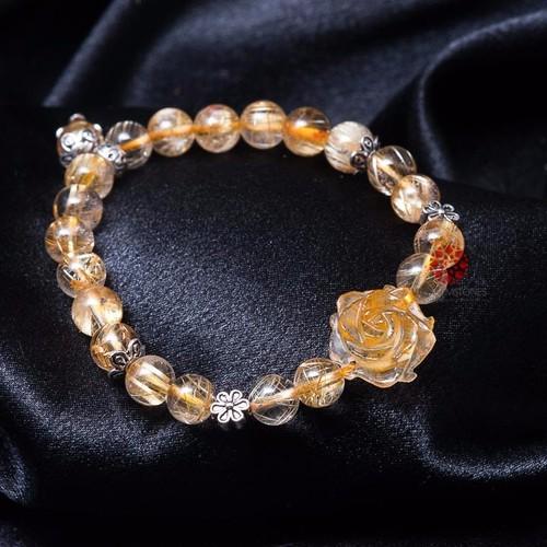 Vòng tay thạch anh tóc vàng 08mm mix hoa mẫu đơn và charm bạc Thái - 5449411 , 11828017 , 15_11828017 , 1750000 , Vong-tay-thach-anh-toc-vang-08mm-mix-hoa-mau-don-va-charm-bac-Thai-15_11828017 , sendo.vn , Vòng tay thạch anh tóc vàng 08mm mix hoa mẫu đơn và charm bạc Thái