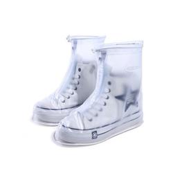 bọc giày đi mưa màu trắng 2 lớp chống ngập cao cấp