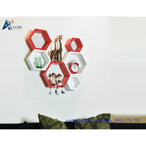 Kệ gỗ trang trí - kệ treo tường 6 khung lục giác trắng đỏ - 5446850 , 11824462 , 15_11824462 , 900000 , Ke-go-trang-tri-ke-treo-tuong-6-khung-luc-giac-trang-do-15_11824462 , sendo.vn , Kệ gỗ trang trí - kệ treo tường 6 khung lục giác trắng đỏ