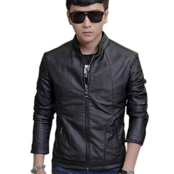 Áo Khoác da nam lót lông thu đông VNXK chuẩn phong cách pigofashion AKD81 - đen