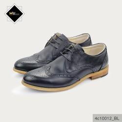 Giày moca nam tăng chiều cao đế phíp màu đen APCN 4C10012_BL