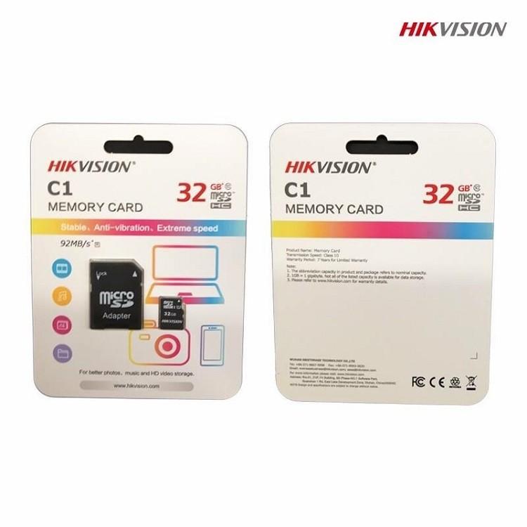Thẻ nhớ HIKVISION 32GB HS-TF-C1 92MBs chuyên dùng cho Camera 3