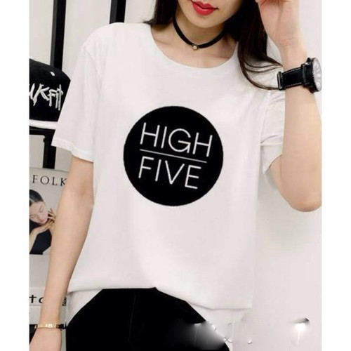 áo thun nữ giá rẻ in hình,in chữ HIGH FIVE