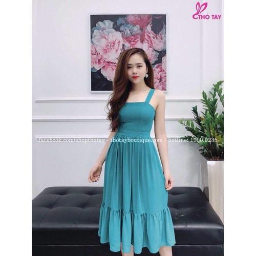 Đầm voan hai dây xinh