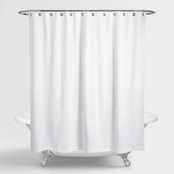 Rèm phòng tắm vải polyester trắng