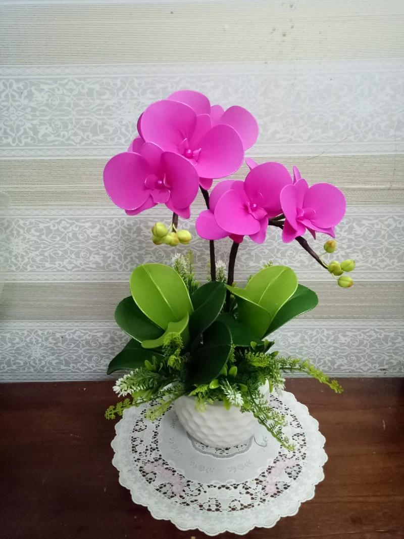 Hoa lan voan 4 lớp vải cánh hoa, giá chỉ 380,000đ! Mua ngay kẻo ...