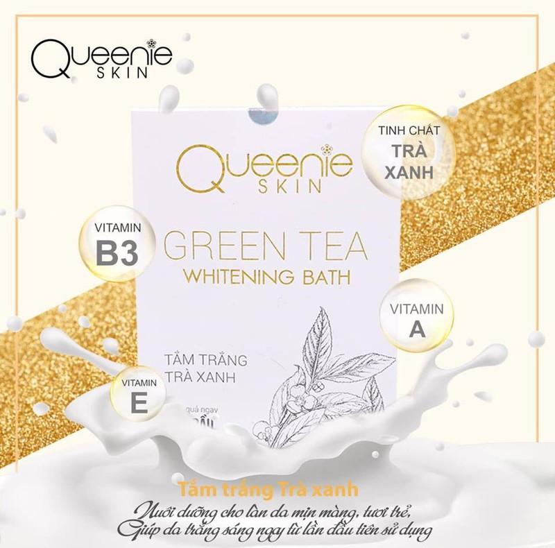 Tắm Trắng Trà Xanh Queenie Skin