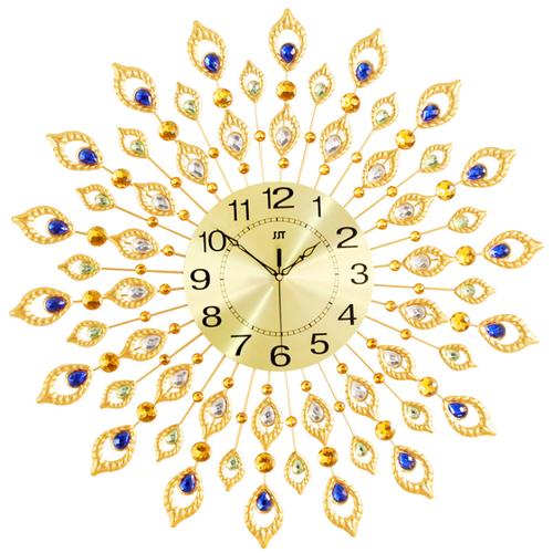 Đồng hồ treo tường nghệ thuật european peacock gold - best seller tony