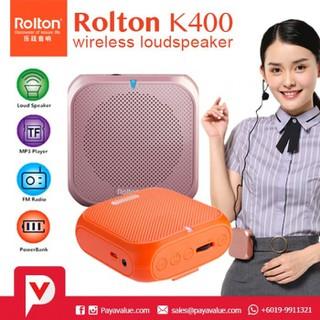 Loa trợ giảng đa năng 4 trong 1 ROLTON K400 - Thiết kế thời trang - K400 1 thumbnail