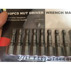 Combo hộp 10 đầu bắn vít ốp lan có từ - vít bắn mái tôn có từ