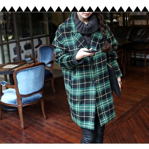 áo khoác măng tô sọc caro Mã: AO3268