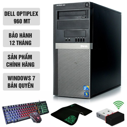 Dell Optiplex 960 MT Core 2 Duo E8400, Ram 8GB, SSD 120GB, HDD 1TB