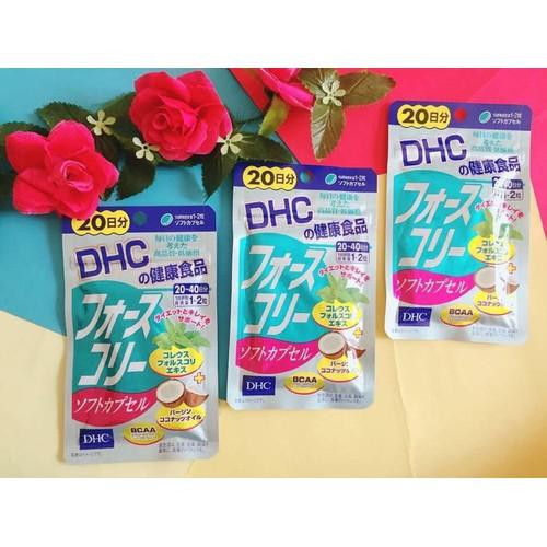 Đẹp Dáng - Đẹp Cả Da với viên uống giảm cân DHC dầu dừa 20 ngày