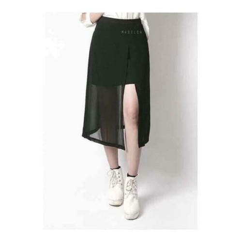 chân váy dài xẻ tà
