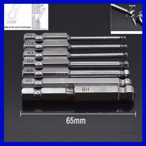 Bộ 7 mũi lục giác bóng cho khoan - 5479761 , 11867490 , 15_11867490 , 115000 , Bo-7-mui-luc-giac-bong-cho-khoan-15_11867490 , sendo.vn , Bộ 7 mũi lục giác bóng cho khoan
