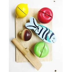 Bộ cắt trái cây và cá xuất dư   Đồ chơi đồ hàng