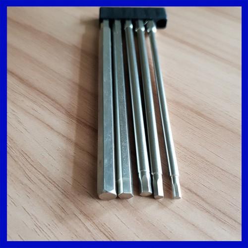 Bộ 5 đầu lục giác dài 150mm dành cho khoan, máy bắn vít - 5479778 , 11867514 , 15_11867514 , 150000 , Bo-5-dau-luc-giac-dai-150mm-danh-cho-khoan-may-ban-vit-15_11867514 , sendo.vn , Bộ 5 đầu lục giác dài 150mm dành cho khoan, máy bắn vít