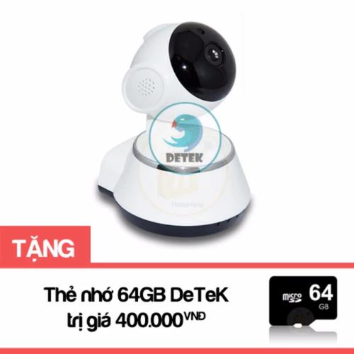 Camera IP WIFI quay 360 độ có hồng ngoại V380 Tặng thẻ nhớ 64GB