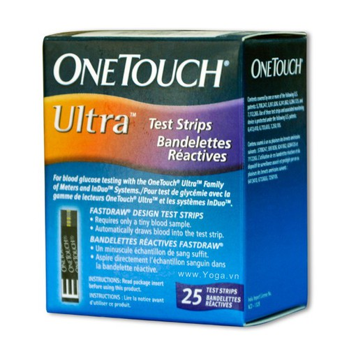 Que Thử Đường Huyết One Touch Ultra - Hộp 25 que