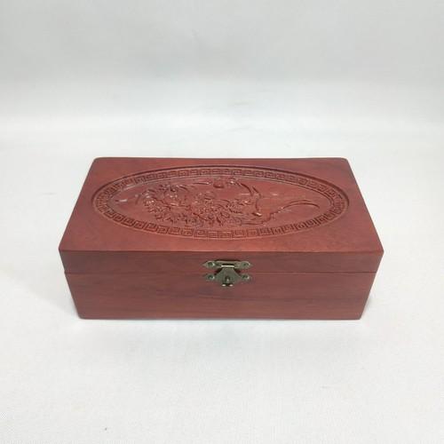 HỘP ĐỰNG CON DẤU, ĐỒ TRANG SỨC CHIM PHƯỢNG CHUẨN gỗ HƯƠNG size 19