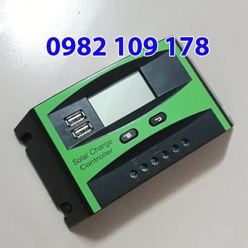 Điều khiển sạc năng lượng mặt trời 30A 12V-24V LCD hiệu suất tốt