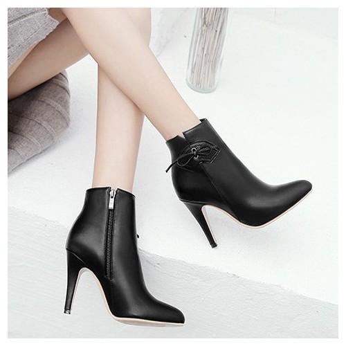 Giày boot da nữ cao cấp, giày bốt gót nhọn , cổ giày có trag trí nơ, có kèm dây kéo bên má, cao 10cm ĐEN B120 - 10890198 , 12474465 , 15_12474465 , 490000 , Giay-boot-da-nu-cao-cap-giay-bot-got-nhon-co-giay-co-trag-tri-no-co-kem-day-keo-ben-ma-cao-10cm-DEN-B120-15_12474465 , sendo.vn , Giày boot da nữ cao cấp, giày bốt gót nhọn , cổ giày có trag trí nơ, có kèm