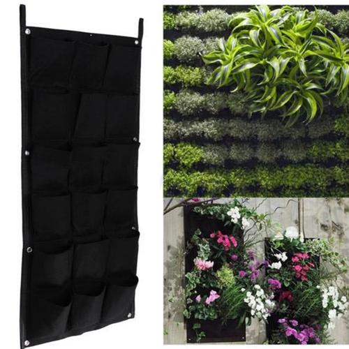 Túi vải trồng cây treo tường 18 túi