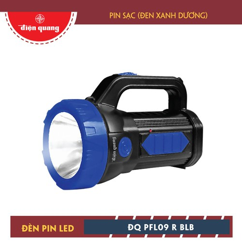 Đèn Pin LED Điện Quang ĐQ PFL09 R BLB Pin Sạc, Đen - Xanh Dương
