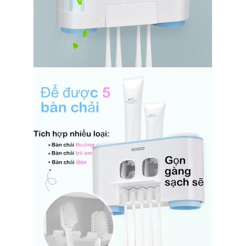 Bộ nhả kem đánh răng tự động  ECOCO 4 Hộp cao cấp- Nội Thất Sang Chảnh