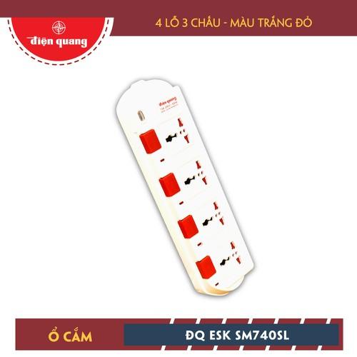 Ổ Cắm Điện Quang ĐQ ESK 5W.SM740SL 4 Lỗ 3 Chấu Dây 5m Trắng Đỏ - 4429339 , 11891262 , 15_11891262 , 179000 , O-Cam-Dien-Quang-DQ-ESK-5W.SM740SL-4-Lo-3-Chau-Day-5m-Trang-Do-15_11891262 , sendo.vn , Ổ Cắm Điện Quang ĐQ ESK 5W.SM740SL 4 Lỗ 3 Chấu Dây 5m Trắng Đỏ