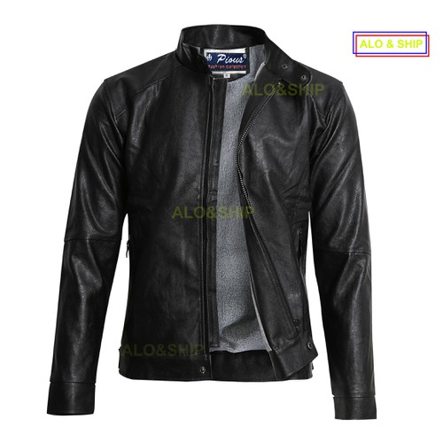 Áo khoác da lót lông nam thời trang cao cấp AD037