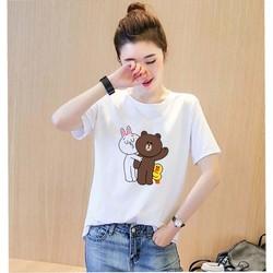 Áo thun nữ in hình gấu Brown thỏ Cony Thời trang Everest