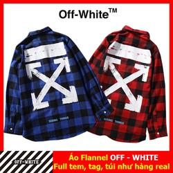Áo flannel OFF WHITE , ÁO sơ mi OFF WHITE PLV01