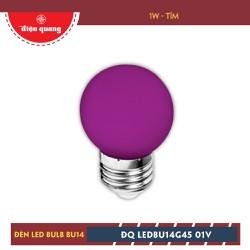 Đèn LED Bulb Điện Quang ĐQ LEDBU14G45 01V 1W Tím