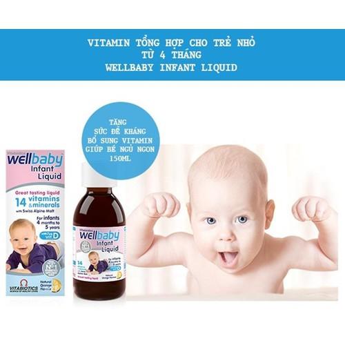 Vitamin Tổng Hợp Wellbaby Tăng Đề Kháng Cho Bé, 6 tháng đến 4 tuổi